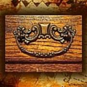 Pre-civil War Bookcase-drawer Pull Art Print