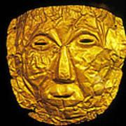 Pre-inca Gold Mask Art Print