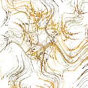 Precious Metal 1 White Decorator Collection 1 Art Print