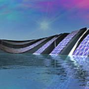 Precious Water Alien Landscape Art Print