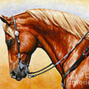 Precision - Horse Painting Print by Crista Forest