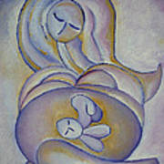 Pregnancy Oil Painting In The Belly Original By Gioia Albano Art Print