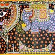 Pregnant Elephant Art Print