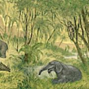 Prehistoric, Miocene Landscape Art Print