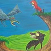 Prehistoric Pets Art Print