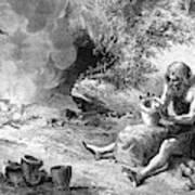 Prehistoric Potter Art Print