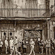 Preservation Hall Sepia Art Print