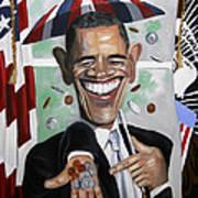 President Barock Obama Change Art Print