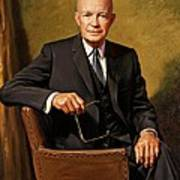 President Dwight D. Eisenhower By J. Anthony Wills Art Print