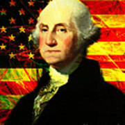 President George Washington V2 Print by Wingsdomain Art and Photography