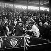 President Herbert Hoover And Baseball Great Walter Johnson 1931 Art Print