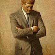 President John F. Kennedy Official Portrait By Aaron Shikler Art Print by Movie Poster Prints