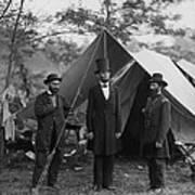 President Lincoln At Antietam Art Print