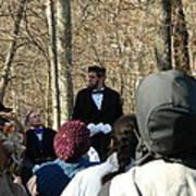 President Lincoln Speaks Art Print