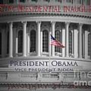 President Obama Inauguration Print by Jost Houk