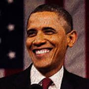 President Obama Art Print by Mim White