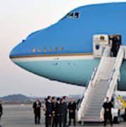 President Obama, Osan Air Base, Korea Art Print