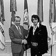 President Richard Nixon And Elvis Art Print
