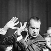 President Richard Nixon Gesturing Art Print
