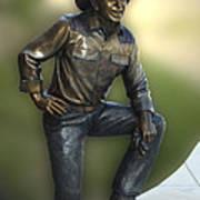 President Ronald Reagan Statue Art Print