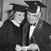 President Truman And Daughter Art Print