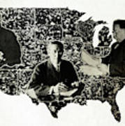 Presidential Map, C1912 Art Print