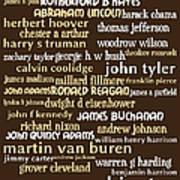 Presidents Of The United States 20130625bwwa85 Art Print