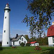 Presque Isle Mi Lighthouse 4 Art Print