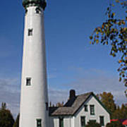 Presque Isle Mi Lighthouse 5 Art Print