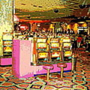 Pretty In Pink Bar Stools And Slots Reserved For Spring Break High Rollers   Art Print