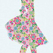 Pretty In Pink Flower Girl Art Print