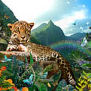 Pretty Jaguar Art Print by Alixandra Mullins