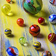 Pretty Marbles Art Print