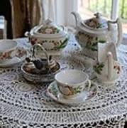 Pretty Tea Set Art Print