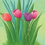 Pretty Tulips Art Print