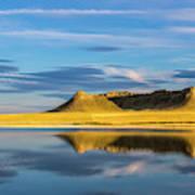 Priest Butte Reflects Into Wetlands Art Print