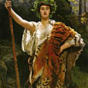 Priestess Bacchus Art Print by John Collier