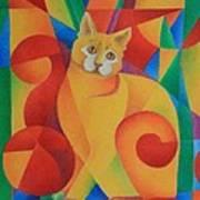 Primary Cat II Art Print