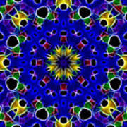 Primary Colors Fractal Kaleidoscope Art Print