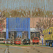 Primary Loading Docks Art Print by Donald Maier