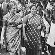 Prime Minister Indira Gandhi Art Print