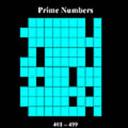 Prime Numbers As Invisible 401  499 Art Print