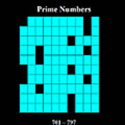 Prime Numbers As Invisible 701  797 Art Print