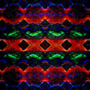 Primitive Textured Shapes Art Print