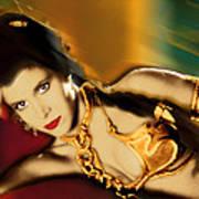 Princess Leia Star Wars Episode Vi Return Of The Jedi 1 Art Print by Tony Rubino