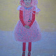 Princess Needs Pink New Hair Art Print by Elizabeth Stedman