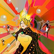 Princess Of Lightbeams Art Print