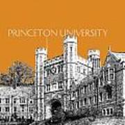Princeton University - Dark Orange Art Print