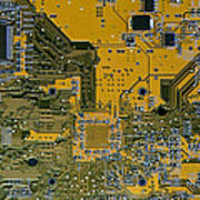 Printed Circuit Board Art Print by Russell Shively