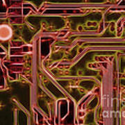Printed Circuit - Motherboard Art Print